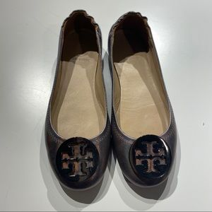 Tory Burch  TRAVEL BALLET FLAT, LEATHER